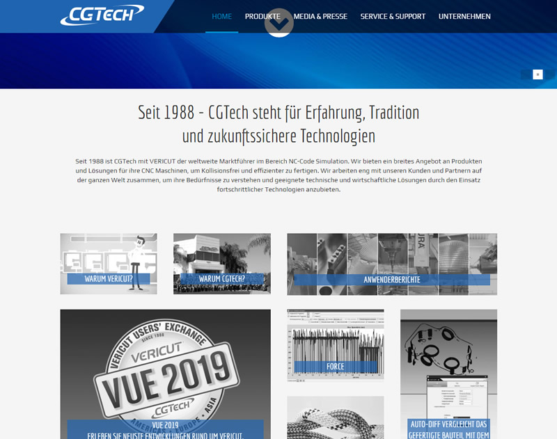 Website für NC-Simulation